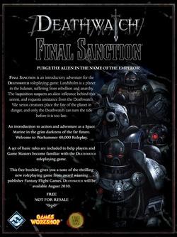 Deathwatch - Final Sanction