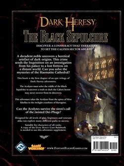 Dark Heresy - Apostasy Gambit 1:  The Black Sepulchre