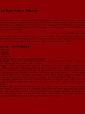 Dark Heresy - Apocrypha Timeline